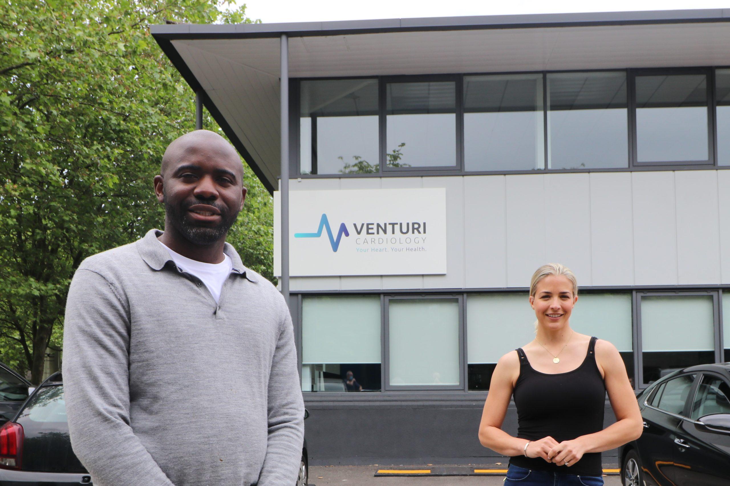 Fabrice Muamba, Gemma Atkinson and Lizzie Jones MBE officially open Venturi Cardiology